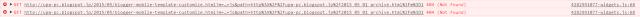 Chrome のデベロッパーツールのコンソール モバイル表示した Blogger ブログのブログアーカイブガジェットにて、 月の階層を開き、その月に投稿された記事のタイトル一覧を表示しようとしたところ。 GET  で 404 (Not Found) のエラーが発生