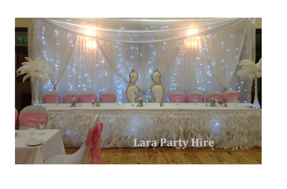 Lara Party Hire Wedding Fairy Lights Backdrop