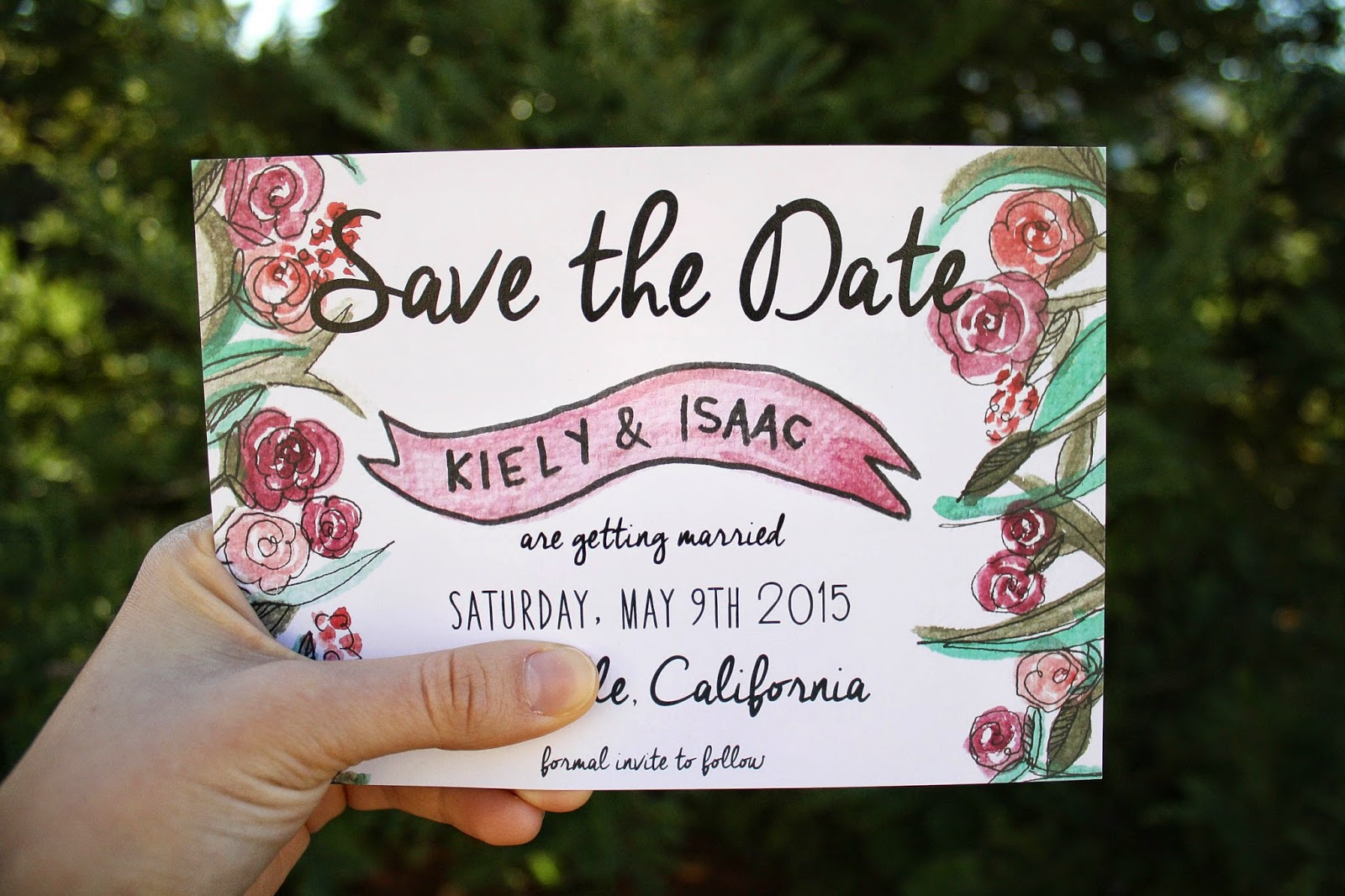 pocket of blossoms: save the date