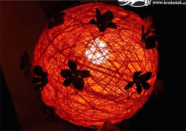 Đèn ngủ handmade từ lon thiếc và len 2
