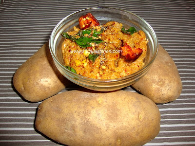images for Potato Thogayal / Potato Chutney Recipe