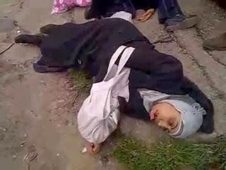 Muslimah Suriah terkapar - Gaza Al An
