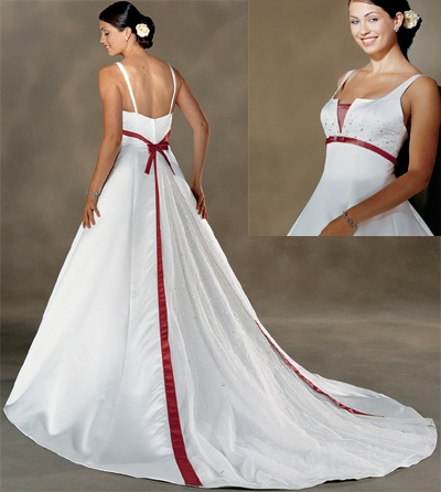 Wedding Dresses With Red Accents 90