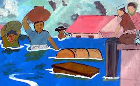 ilustrasi kebanjiran