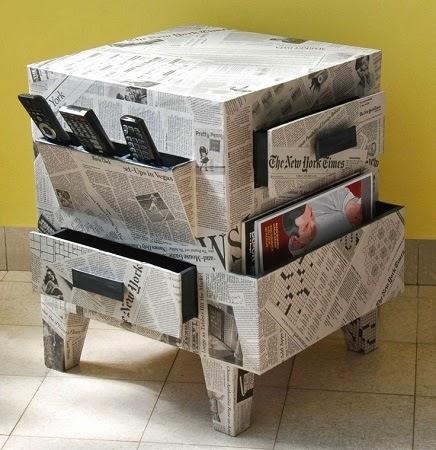 Renueva tus muebles con papel de diario - Muebles de papel ...