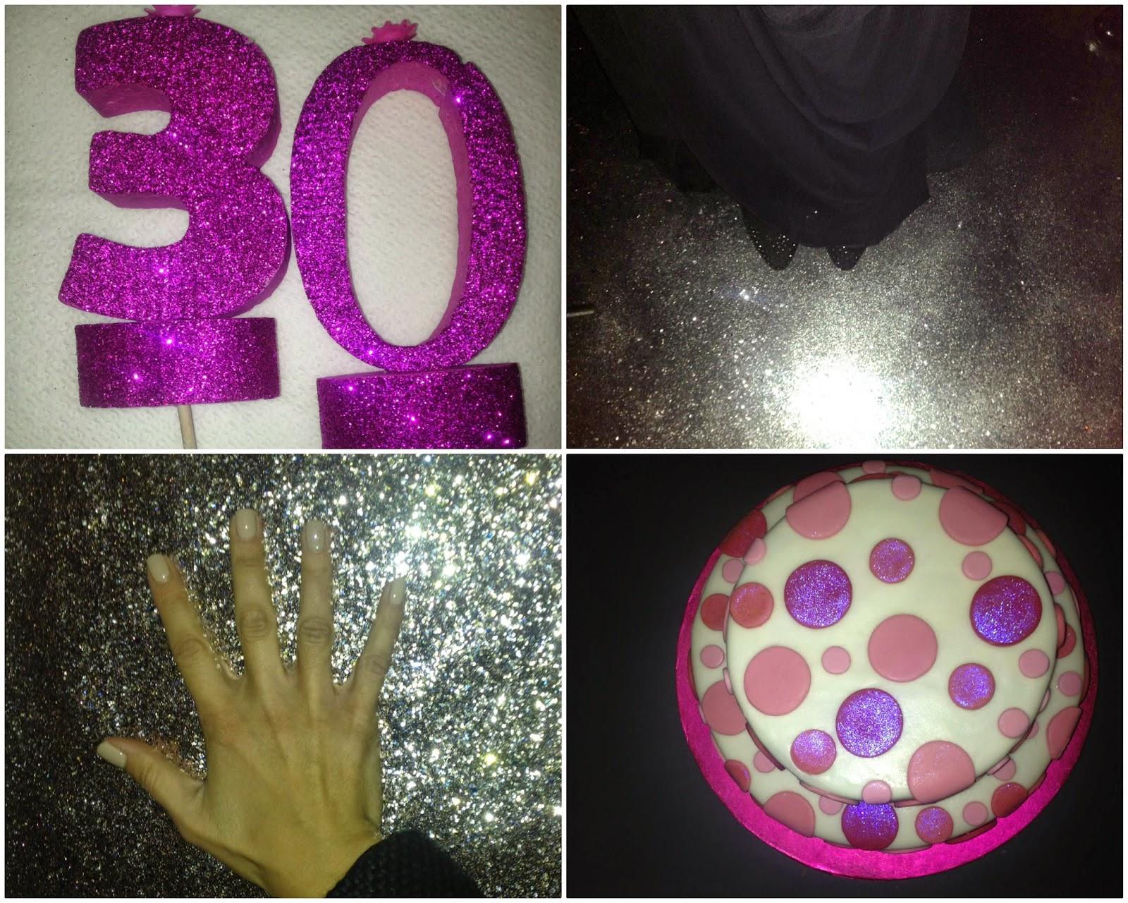 compleanno a tema glitter