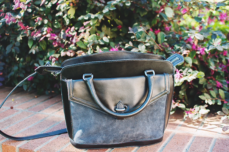 madewell sloane satchel black suede leather