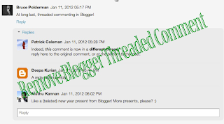 Remove Blogger Threaded Comment