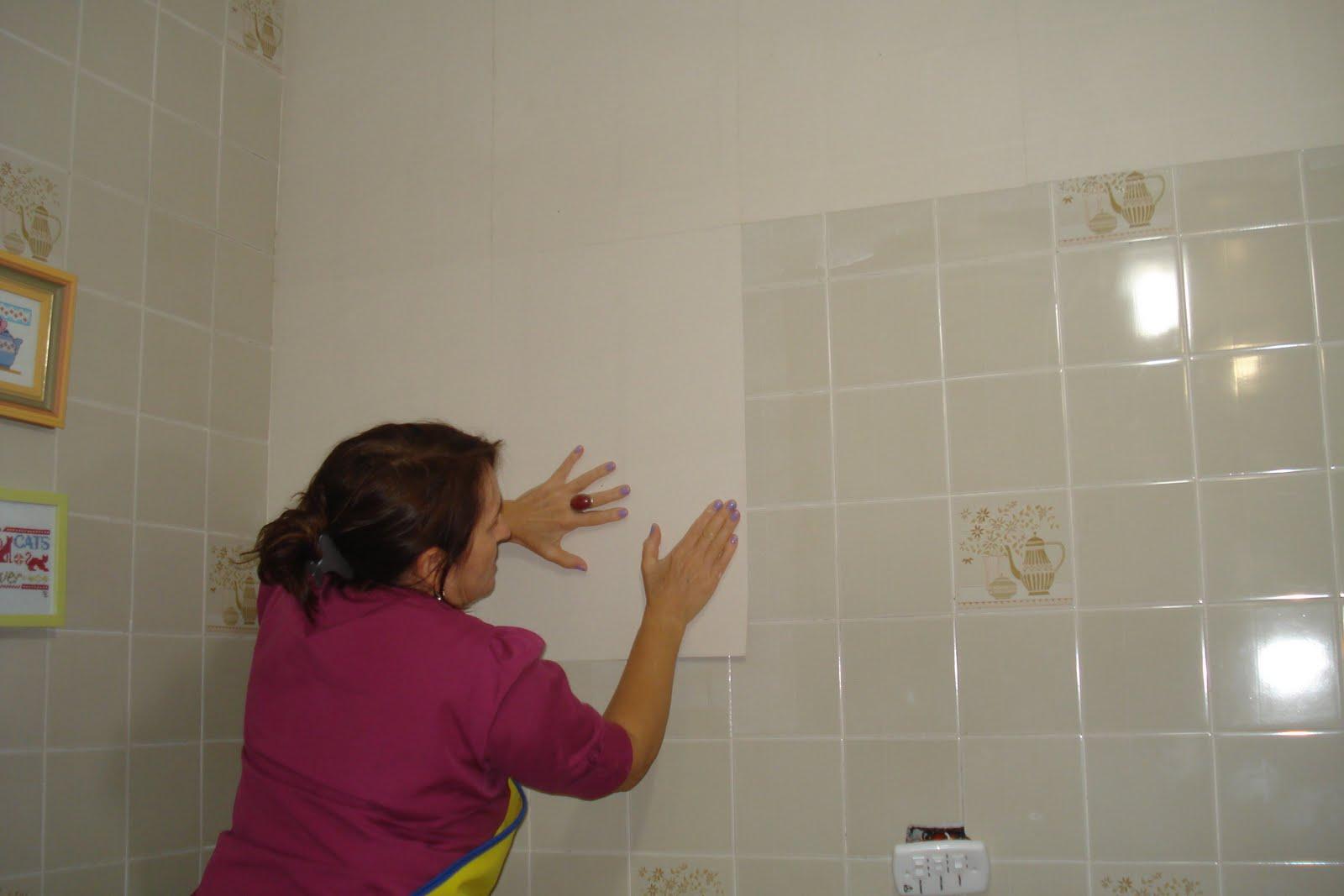 Multiartes: Parede de azulejos pintada  Canto Alemão.. #14265C 1600x1067 Banheiro Com Azulejo Pintado