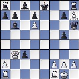 Posición de la partida de ajedrez Sala-Capdevila después de 17.exd6
