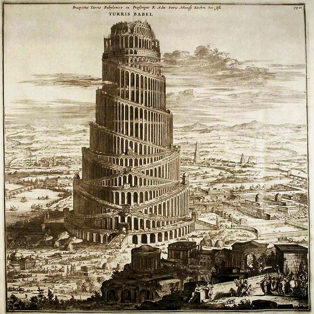 Arte para niños: La torre de Babel para niños