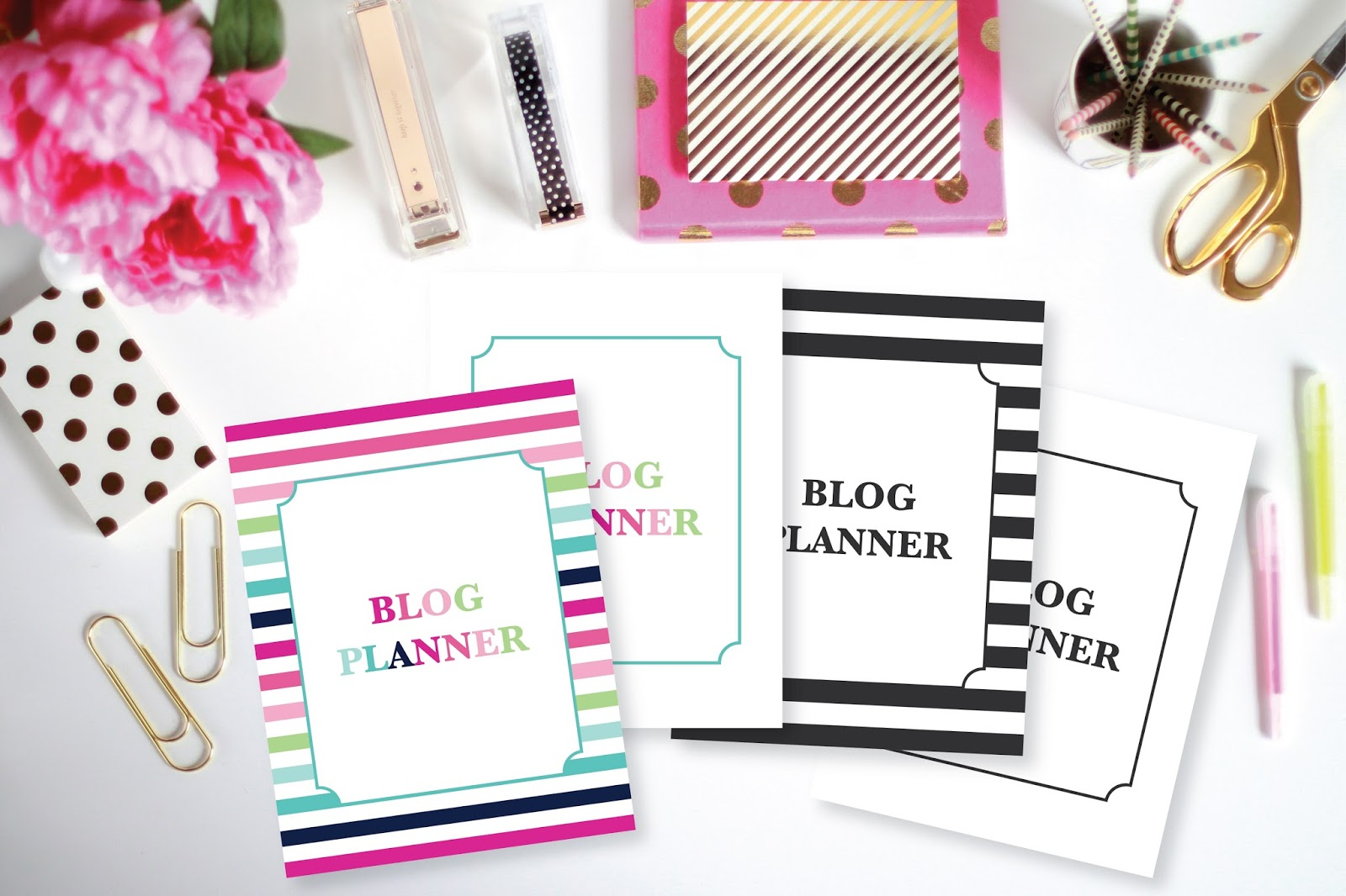 Printable Blog Planner Options by Jessica Marie Design
