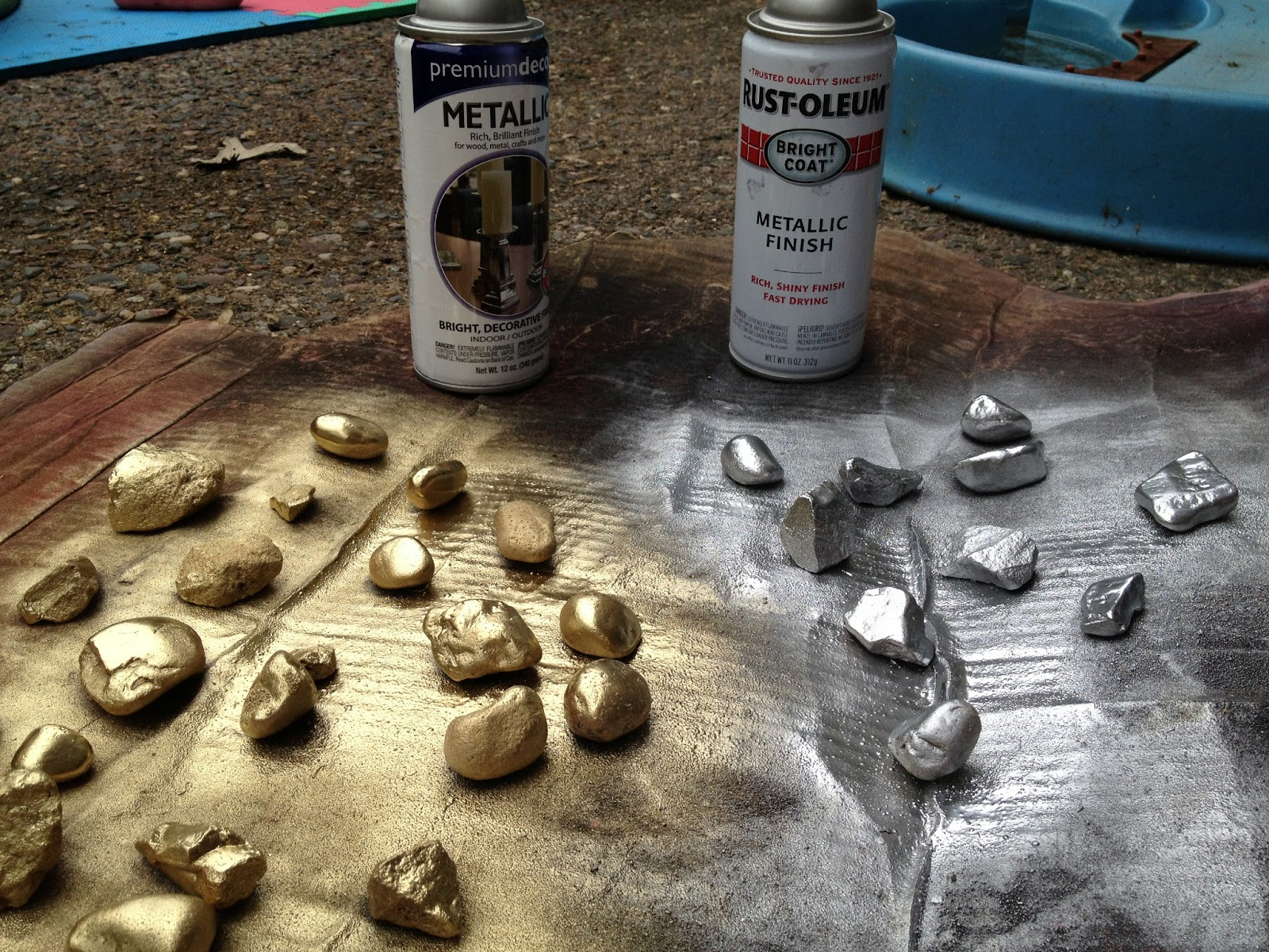 Id mommy june 2013 for Spray paint rocks for garden