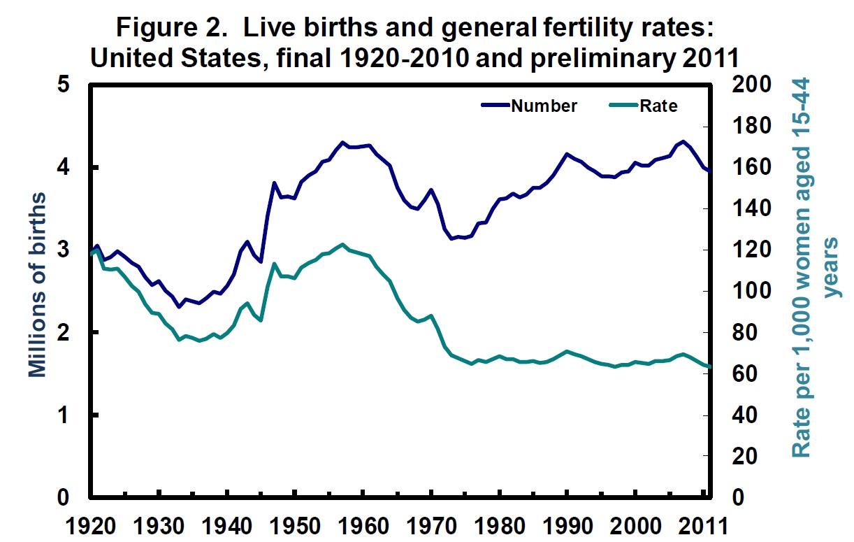 conversable economist: u.s. birth rates