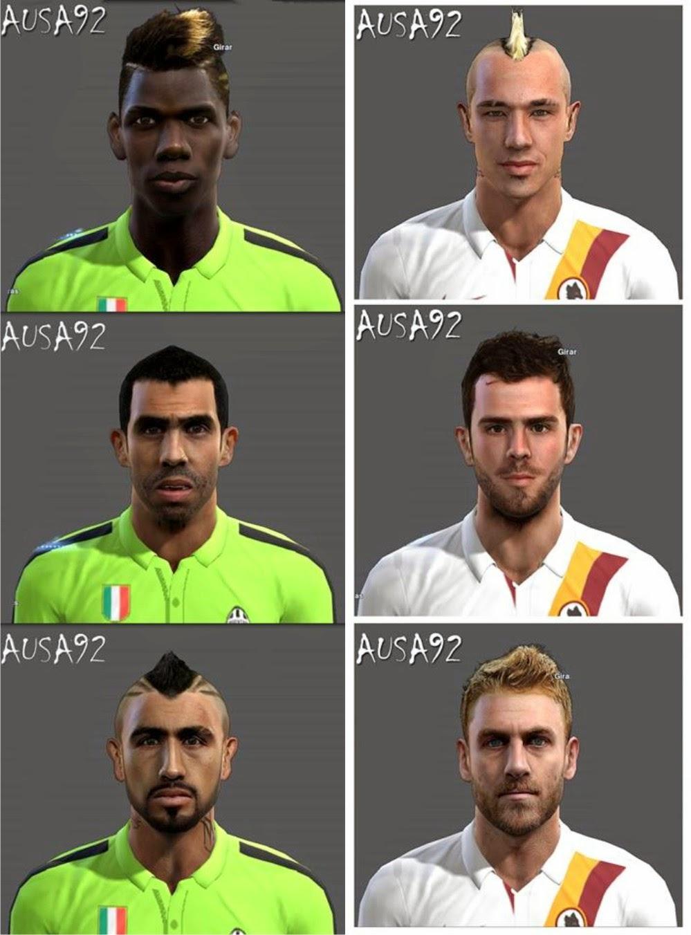 PES 2013 Juventus & AS Roma Facepack By Ausa92