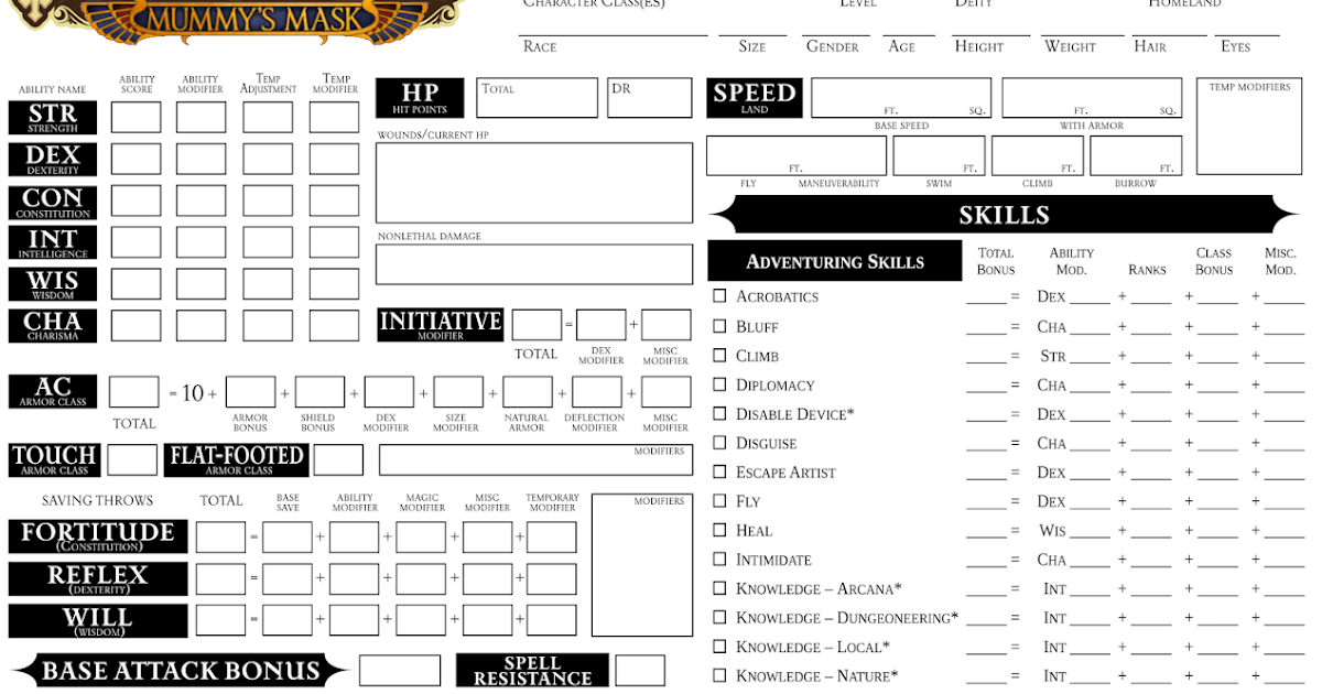 Custom Character Sheet Design : Eric the generic cleric custom character sheet