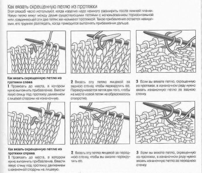 Вязание спицами как вязать скрещенные петли 31