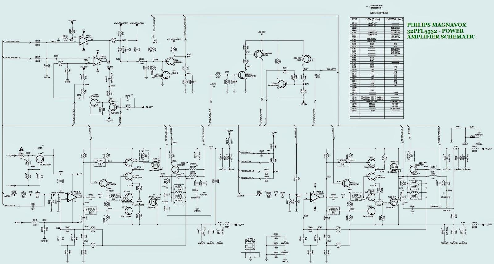 32pfl5332 philips magnavox audio dc to dc converter schematic electro help