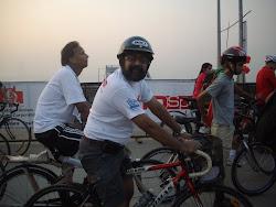 """At starting point-""""Rajiv Gandhi Sealink(Bandra-Worli Sealink)"""""""