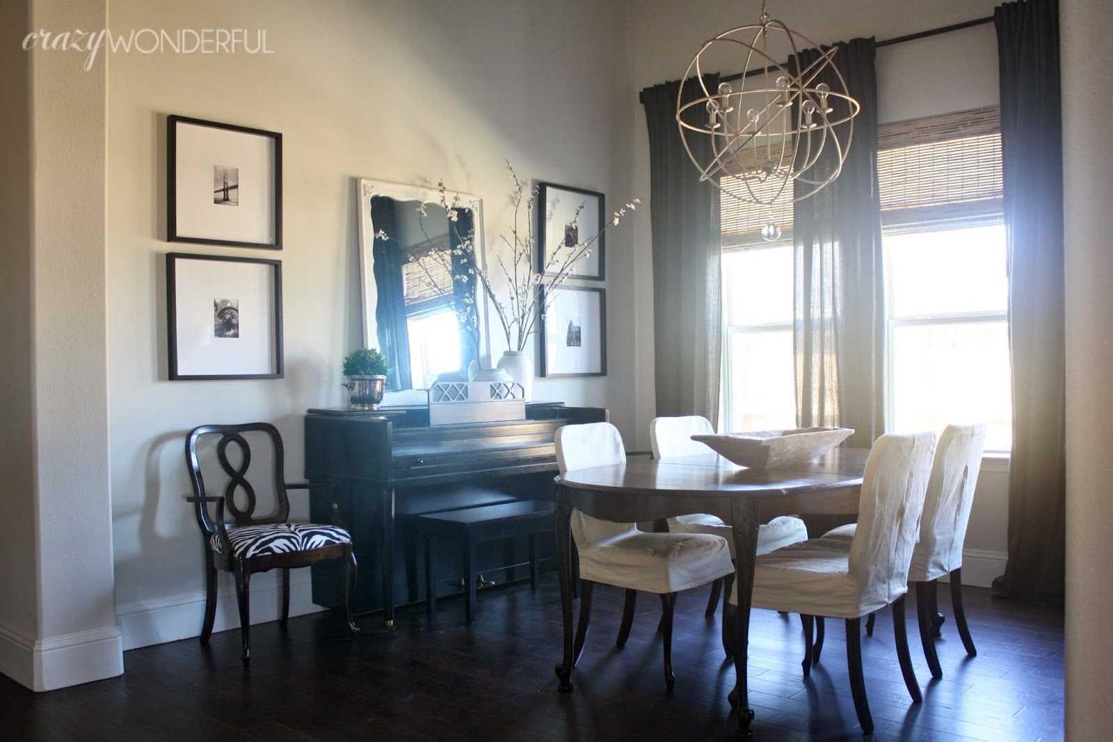 Black and white dining room ideas