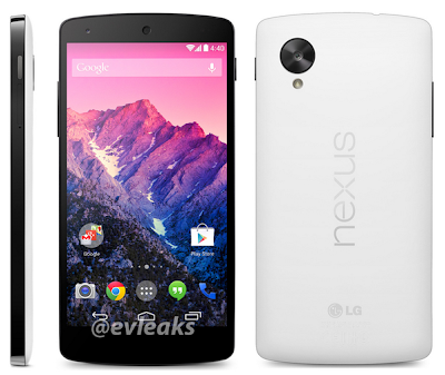 Google Nexus 5 - Side, Front and Back