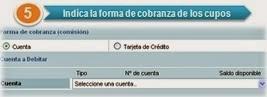 Cobro de Cupo, Pago de Cupo, Cuenta, Tarjeta de Credito, TDC