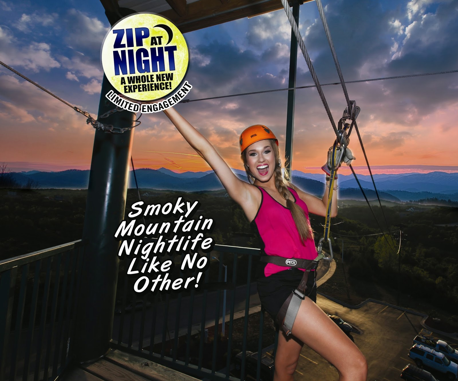 Night Zipping near Pigeon Forge