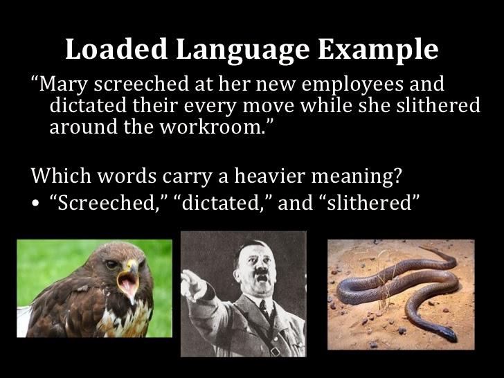 Apologia Loaded Language