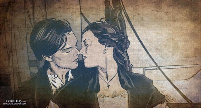 ©leolux. Dibujo e Ilustracion. Fotogramas | Photograms. Titanic. Leonardo Dicaprio. Kate Winslet