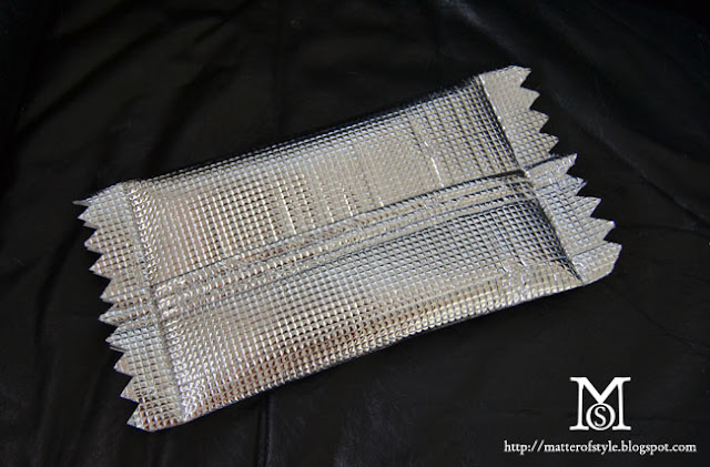 margiela, h m , candy wrapper bag,diy, fashion diy