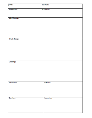 Ve had several requests for my lesson plan template so here it is