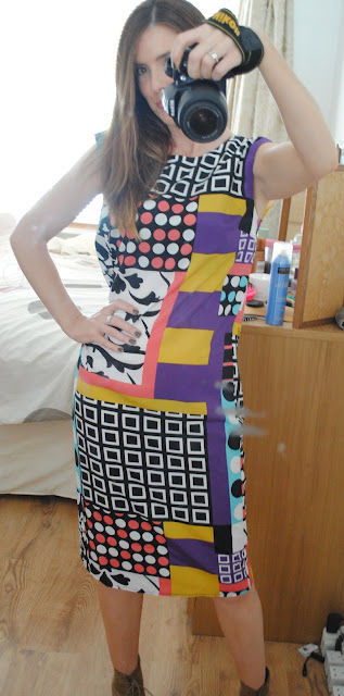 ASOS Print Midi Dress - Outfit of the Day