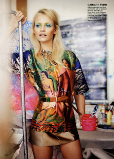 Magazine Photoshoot : Ginta Lapina Photoshoot For Regan Cameron in Allure Magazine February 2014 Issue