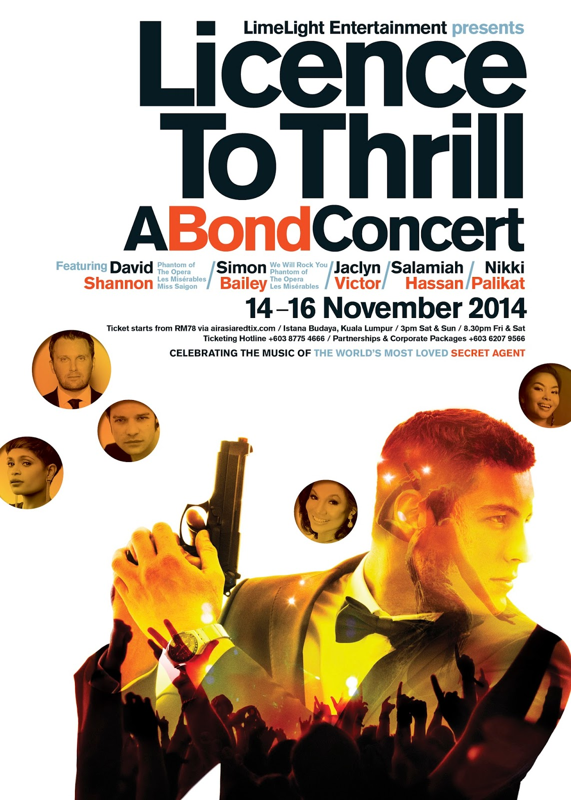 Licence To Thrill: A Bond Concert ft David Shannon, Simon Bailey, Jaclyn Victor, Salamiah Hassan and Nikki Palikat | 14-16 Nov 2014