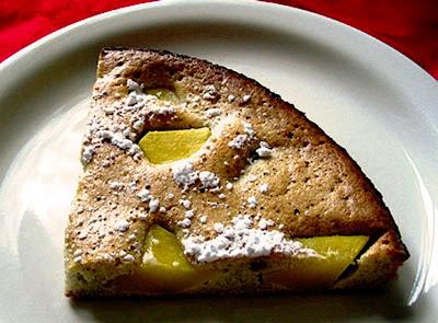 Baked Coconut Mango Pancake Slice