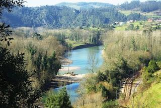 río Nalón en las proximidades de San Román de Candamo