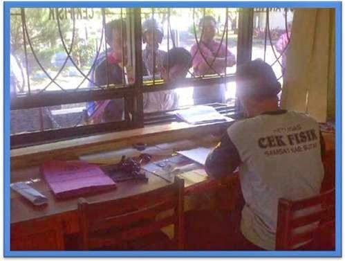 Cek Fisik layanan DRIVE THRU Samsat Wlingi