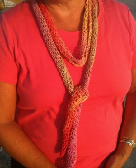 Knitting Pattern For Summer Scarf : KalamazooKnits: My idea of summer knitting - A FREE pattern
