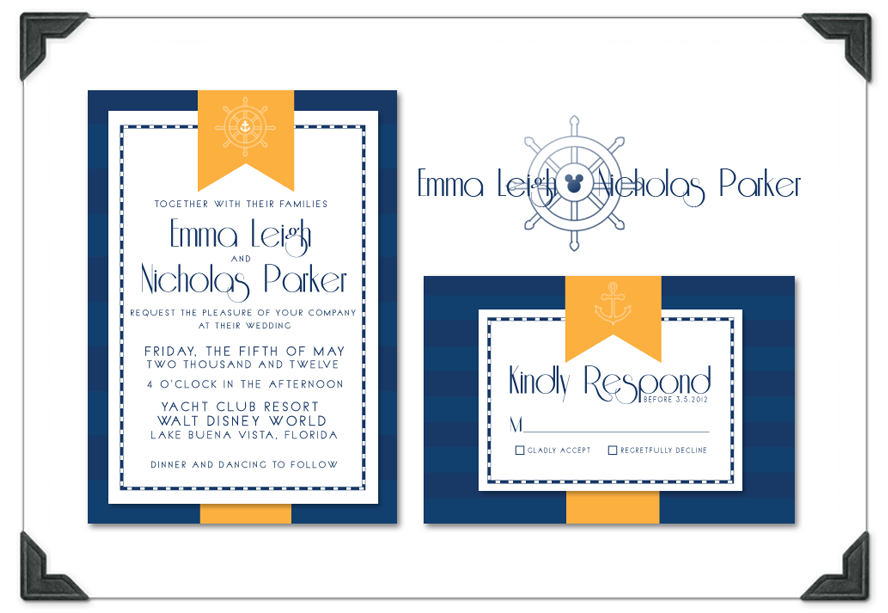 wedding nautical color combinations decorating a wedding arch