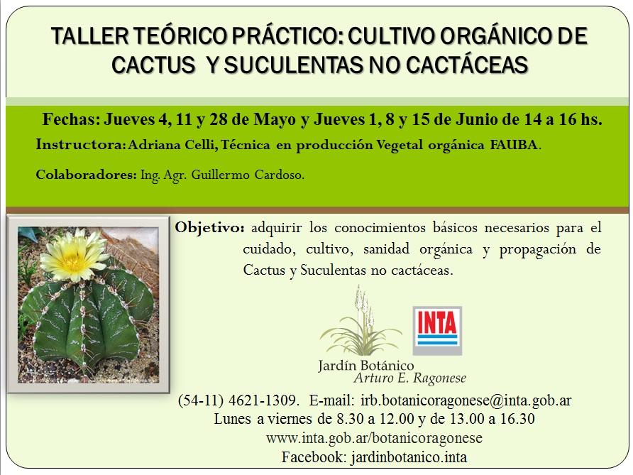 CULTIVO ORGÁNICO DE CACTUS Y SUCULENTAS NC EN EL INTA CASTELAR