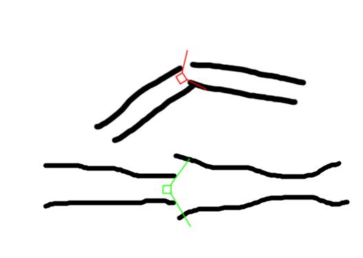 Problema y solución al encadenar trozos de túnel