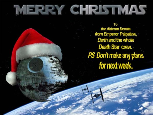as we wait for santa to bring us our new lightsabers and many other intergalactic joys we wanted to wish all of you a very merry christmas - Merry Christmas Star Wars