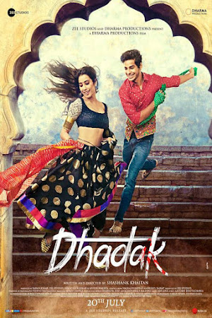Poster Of Hindi Movie Dhadak 2018 Full HD Movie Free Download 720P Watch Online