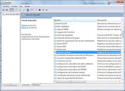window service.msc search option spooler