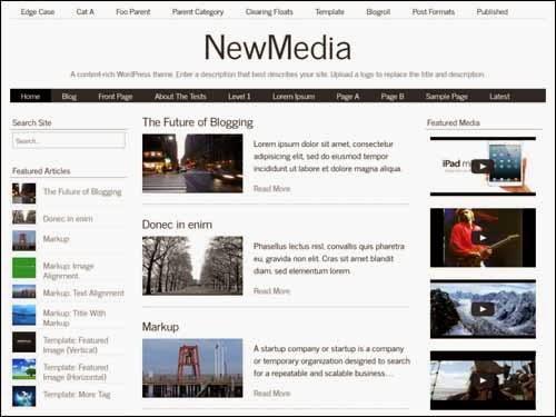 NewMedia Free WordPress Theme