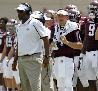 Kevin Sumlin disaproves of CBS' Johnny Cam.