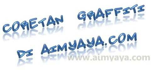 Gambar: Contoh ketikan/tulisan graffiti dengan menggunakan word art di microsoft word