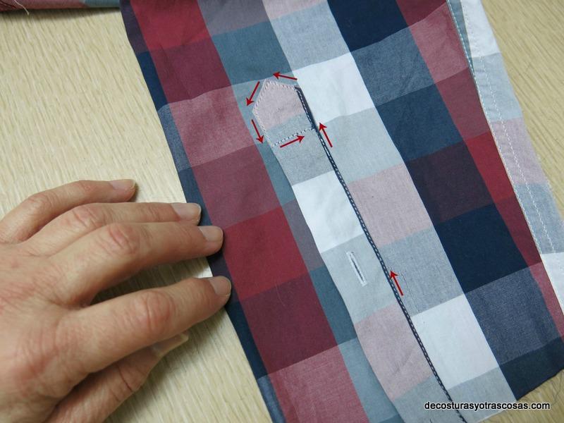 como acortar una manga conservando las piezas de abertura