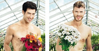 two men handsome naked flowers favourite muscles