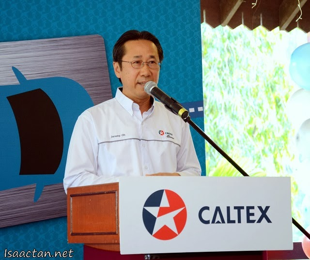 Jeremy Oh, Chevron Malaysia Limited's Chairman giving his opening speech at the launch